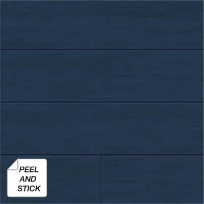 Shiplap Coastal Blue Vinyl Peel & Stick Wallpaper Roll (Covers 30.75 Sq. Ft.)