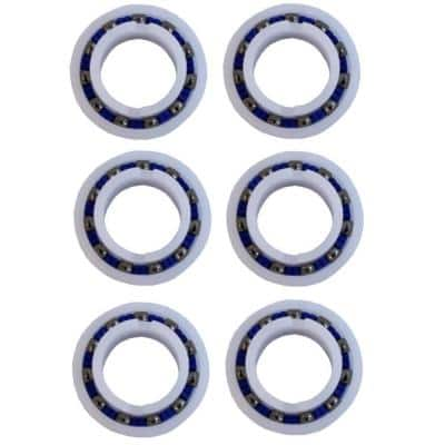 Polaris Ball Bearings Replacement Wheel for Pool Cleaner 280/180 C-60 (6-Pack)