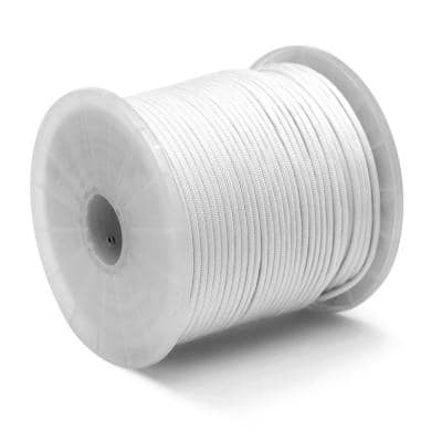 5/32 in. x 400 ft. Nylon Paracord 550 Rope - Type III Mil-Spec 7-Strand Utility Survival Parachute Cord, White