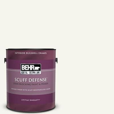 1 gal. #75 Polar Bear Extra Durable Eggshell Enamel Interior Paint & Primer