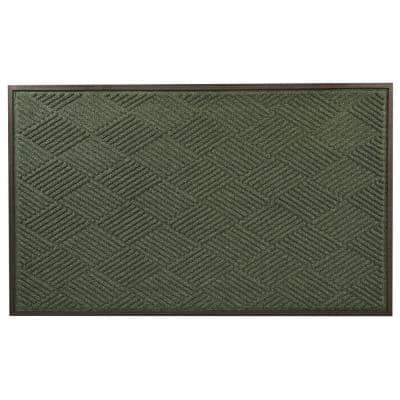 Opus Green 36 in. x 120 in. Rubber-Backed Entrance Mat