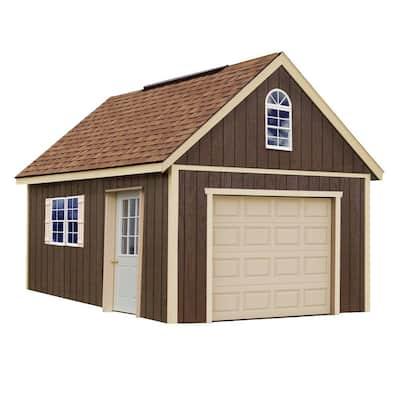 Glenwood 12 ft. x 20 ft. Wood Garage Kit without Floor