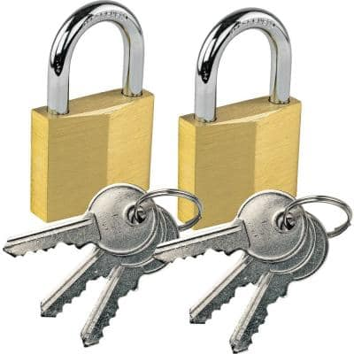 Keyed Alike Brass Padlock (2-Pack)