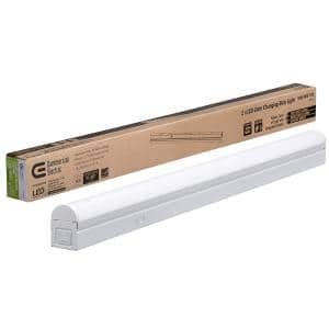 2 ft. 17-Watt Equivalent Integrated LED White Strip Light Linkable Plug-in Direct Wire 900 Lumens 3 Color Temp Options