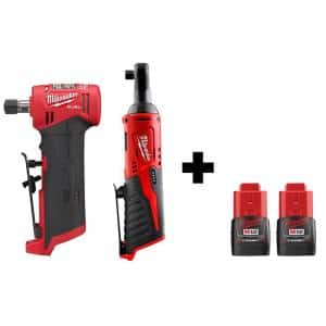 Milwaukee M12 FUEL 12V Li-Ion Cordless 1/4 in Right Angle Die Grinder Deals