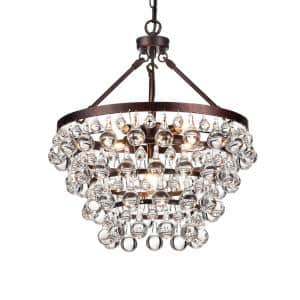 Clarus 5-Light Antique Copper 4-Tier Chandelier with Crystal