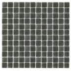 Spongez S-Black-1412 Mosaic Recycled Glass 12 in. x 12 in. Mesh Mounted Floor & Wall Tile (5 sq. ft. / case)