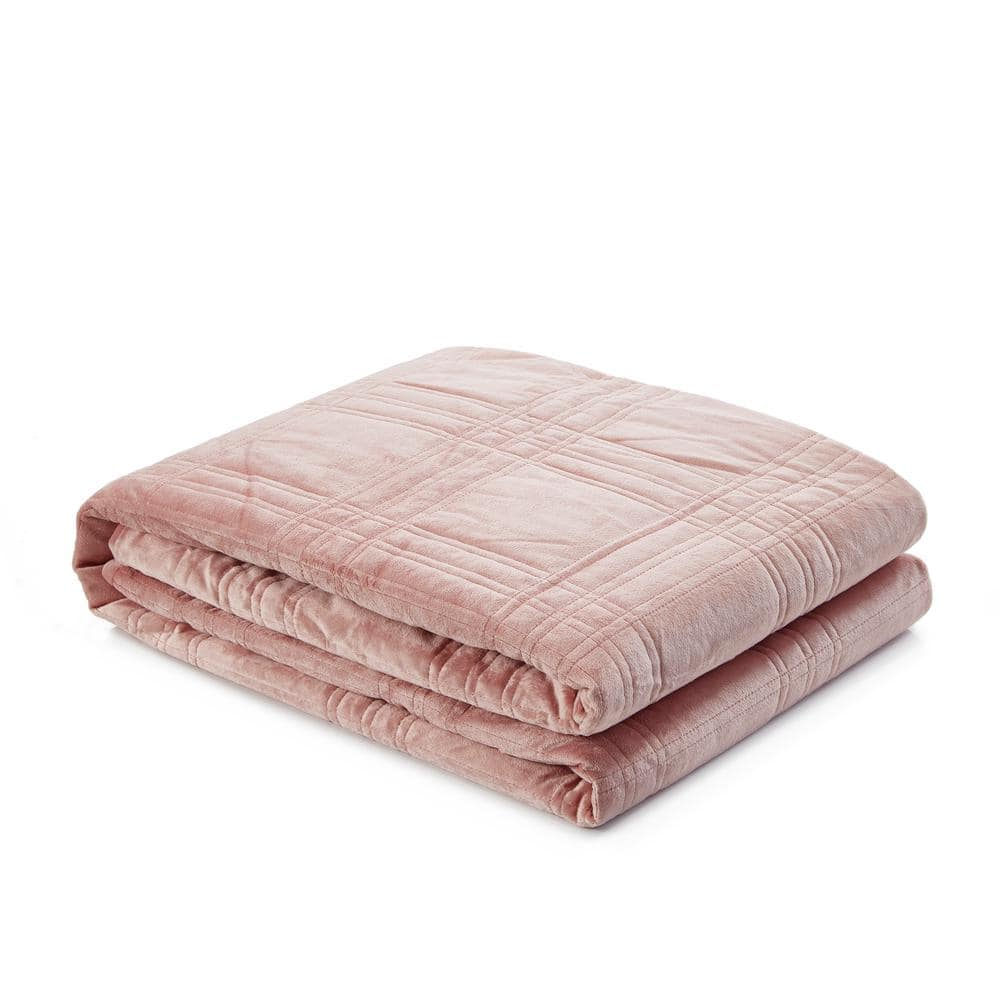 Cozy Tyme Ekon Blush Weighted Blanket 20 Lbs 48 In X 72 In B17120 12bht Hd The Home Depot