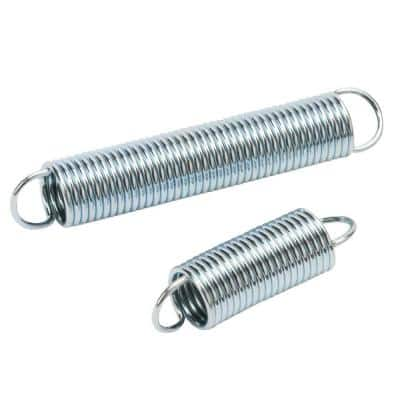 7/16 in. x 1-1/2 in. and 7/16 in. x 2-1/2 in. Zinc-Plated Extension Spring (4-pack)