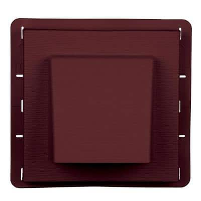 8 in. x 7.875 in. Water Management 4 in. Hooded Vent in #078 Wineberry