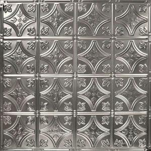 Pattern #3 in Unfinished 2 ft. x 2 ft. Nail Up Tin Ceiling Tile (20 sq. ft./Case)