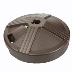 US Weight Durable Fillable Umbrella Base Designed to be Used with a Patio Table in Bronze