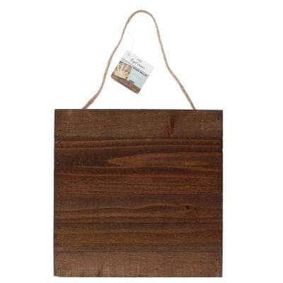 Project Craft Square Dark Wood Blank Pallet Sign for Craft Painting, 12 in. x 12 in.