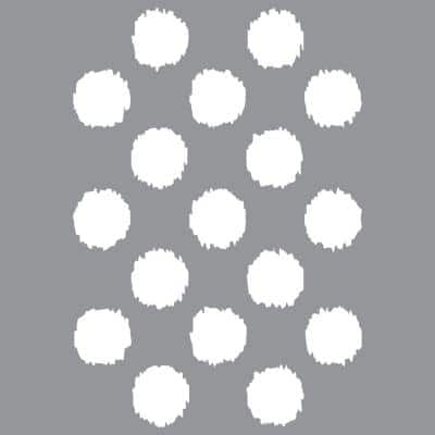 12 in. x 12 in.  Ikat Polka Dot Stencil