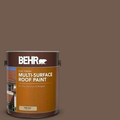 1 gal. #PFC-35 Rich Brown Flat Multi-Surface Exterior Roof Paint