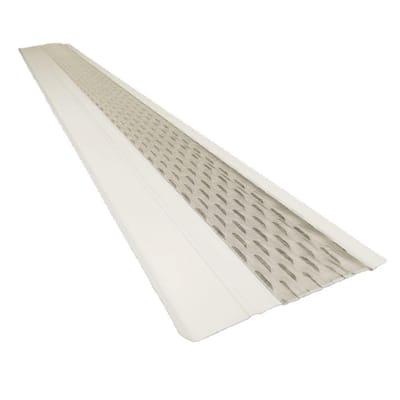 4 ft. x 6 in. Clean Mesh White Aluminum Gutter Guard (25-per Carton)