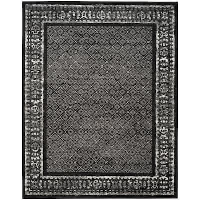 Adirondack Black/Silver 9 ft. x 12 ft. Area Rug