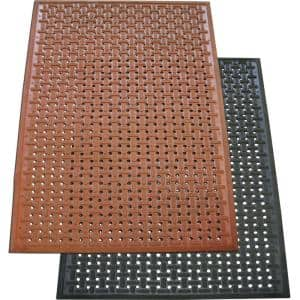 Kitchen Mat Black 3 ft. x 5 ft. Nitrile Rubber Commercial Mat
