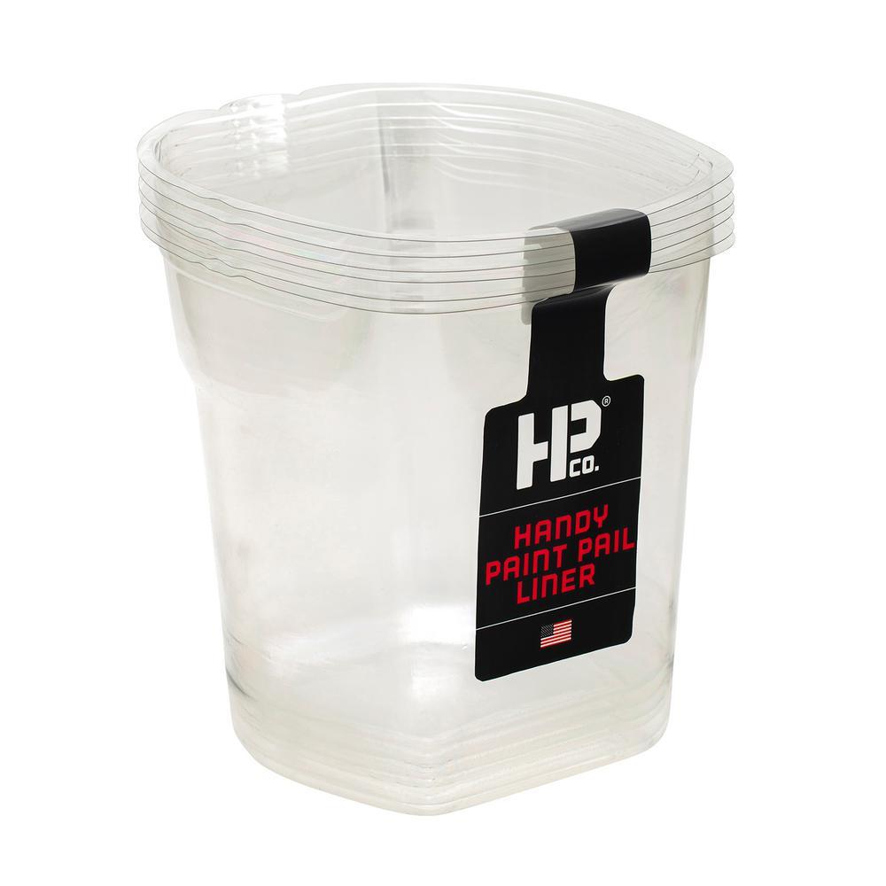 1 qt. Clear Plastic Liners (6-Pack)