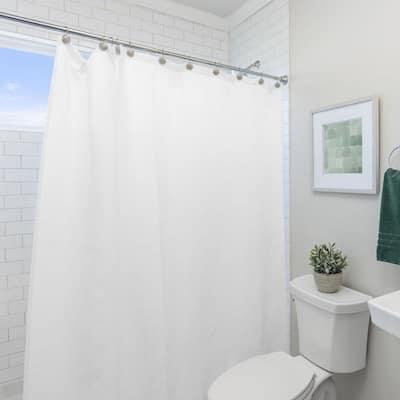 PEVA 72 in. x 72 in. White Shower Curtain Liner