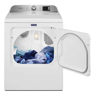 7.0 cu. ft. 240-Volt White Electric Vented Dryer with Moisture Sensing