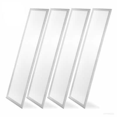 1 ft. x 4 ft. White Integrated LED Dimmable Edge Lit Panel, 4000K (4-Pack)