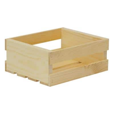 Crates and Pallet 11.75 in. x 9.5 in. x 4.75 in. Small Wood Crate