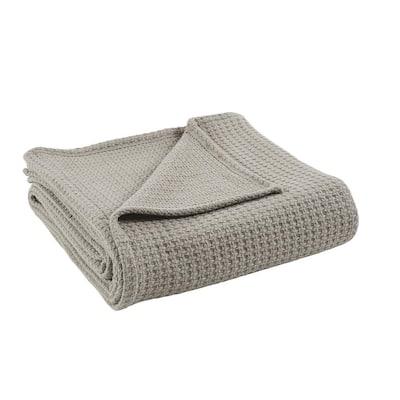 Taupe 100% Cotton King/california king Thermal Blanket