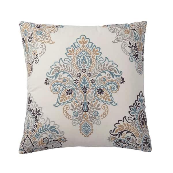 Block Printed 20 Decorative Pillow Paisley Accent Pillow