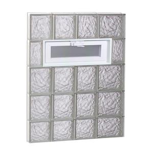 25 in. x 36.75 in. x 3.125 in. Frameless Ice Pattern Vented Glass Block Window