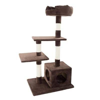 43 in. 4-Tier Cat Tree with Penthouse Condo