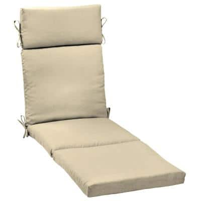 21 x 72 New Tan Leala Texture Outdoor Chaise Lounge Cushion