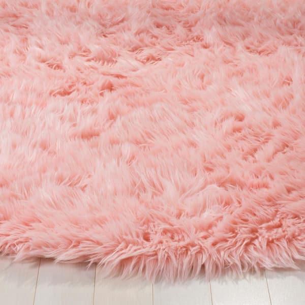 Safavieh Faux Sheep Skin Pink 4 Ft X