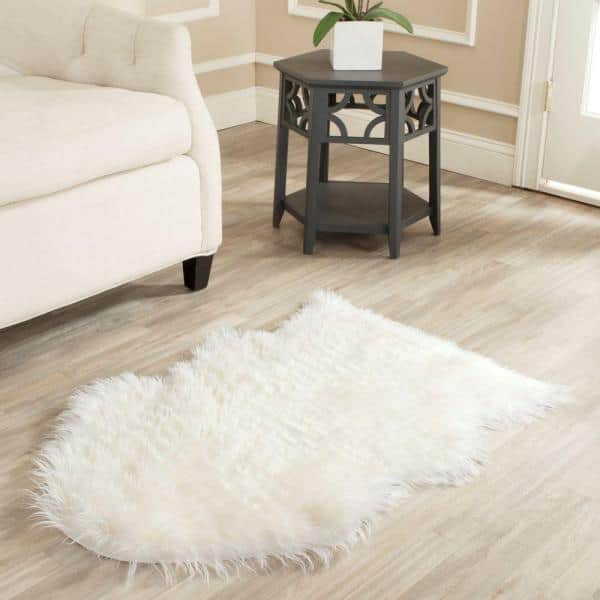 Safavieh Faux Sheep Skin Ivory 2 Ft X 3 Ft Area Rug Fss115a 2 The Home Depot