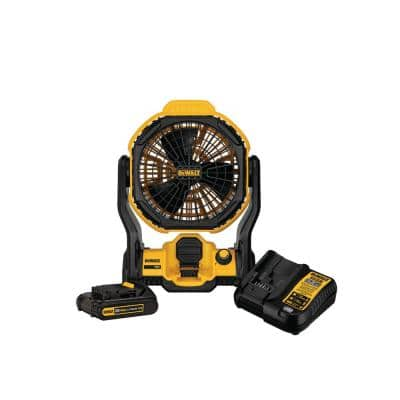 20-Volt MAX Cordless and Corded 11 in. Jobsite Fan with (1) 20-Volt 2.0Ah Battery & Charger