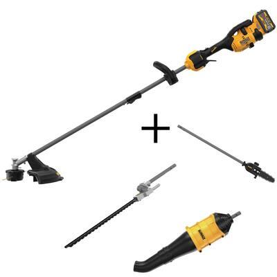 FLEXVOLT 60-Volt MAX Electric Cordless Attachment Capable String Trimmer w/Blower, Pole Saw & Hedge Trimmer Attachments