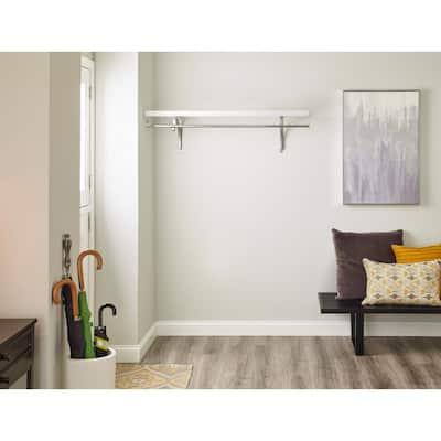White Solid Wood Shelf Kit 48 in. W x 16 in. D