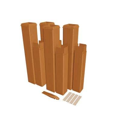 24 in. Cedar Composite Pergola Post Extension Kit (Pack of 4)