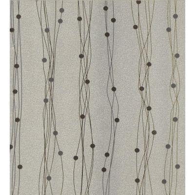 Gregory Silver Geometric Peelable Roll Wallpaper (Covers 57.8 sq. ft.)