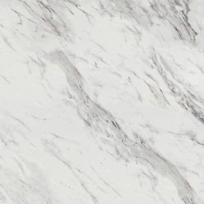 3 in. x 5 in. Laminate Sheet Sample in Calcutta Marble with Premium Textured Gloss Finish