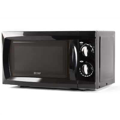 0.6 cu. ft. Countertop Microwave Black