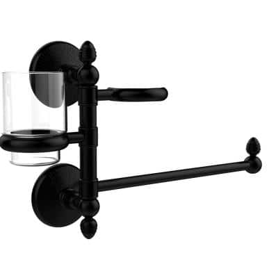 Monte Carlo Collection Hair Dryer Holder and Organizer in Matte Black
