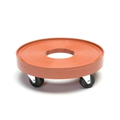 12 in. Terra Cotta Plant Dolly/Caddy with Hole
