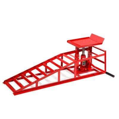 Heavy-Duty 2-Ton Auto Service Ramp Low Profile Steel Hydraulic Lift Repair Frame for Cars Trucks Trailers