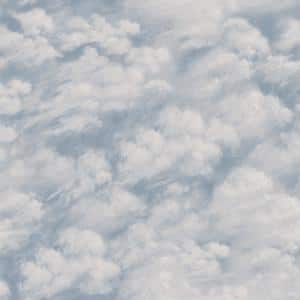 Clouds Sky Blue Peel and Stick Wallpaper (Covers 28 sq. ft.)