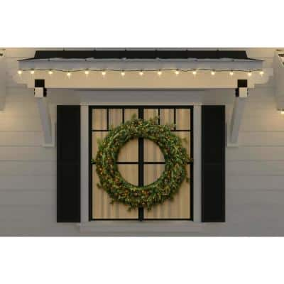 48 in. Jackson Prelit Led Artificial Wreath with 200-Low Voltage LED Micro Dot Lights