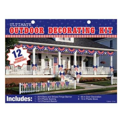 Patriotic Outdoor Decorating Kit (12-Count)