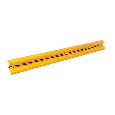 144 in. Yellow Steel Guard Rail