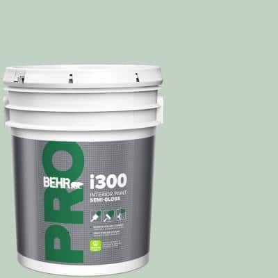 5 gal. #PPU11-13 Frosted Jade Semi-Gloss Interior Paint