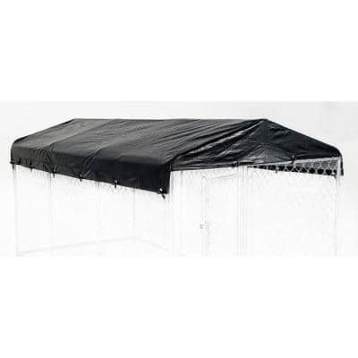 Large 5ft. X 15ft. - All Season Waterproof COVER for Lucky Dog Outdoor Kennels and Pens - Kennel NOT INCLUDED